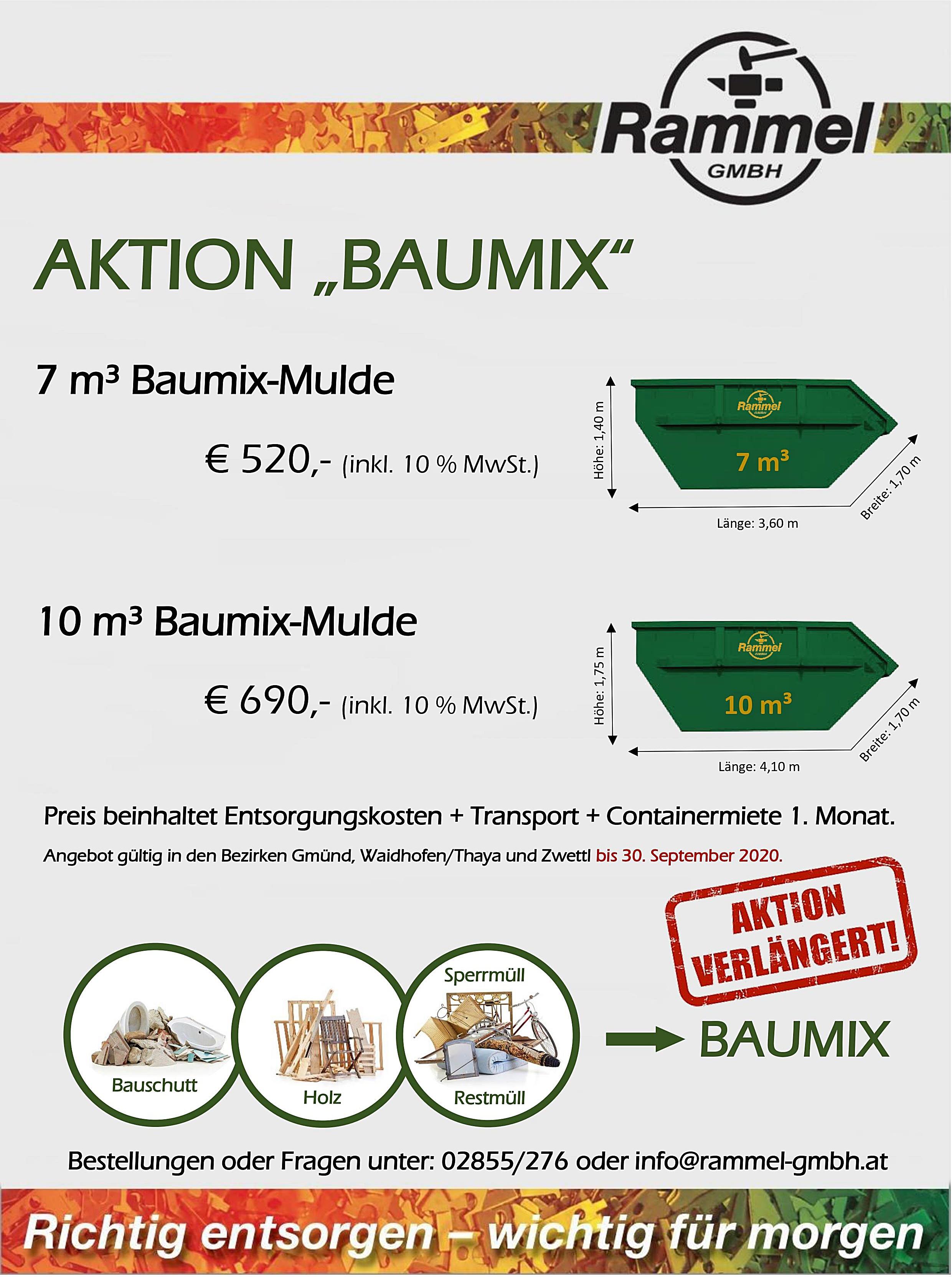 Baumix Aktion Verlängerung